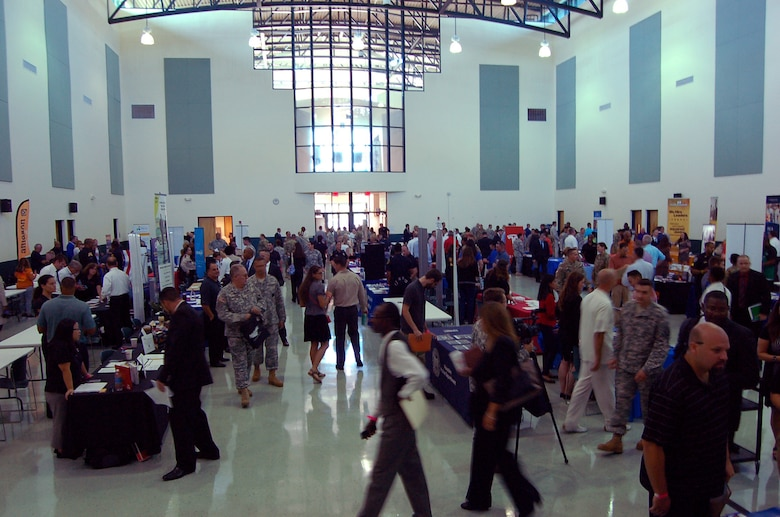 "Hundreds of service members, veterans and military spouses attended a job fair hosted by Hiring Our Heroes in Tampa, Florida at the C.W. ""Bill"" Young Armed Forces Reserve Center on Friday, Sept. 16.  To date Hiring Our Heroes, a program of the U.S. Chamber of Commerce Foundation, has assisted in veterans and military spouses obtaining more than 28,000 jobs through their events."