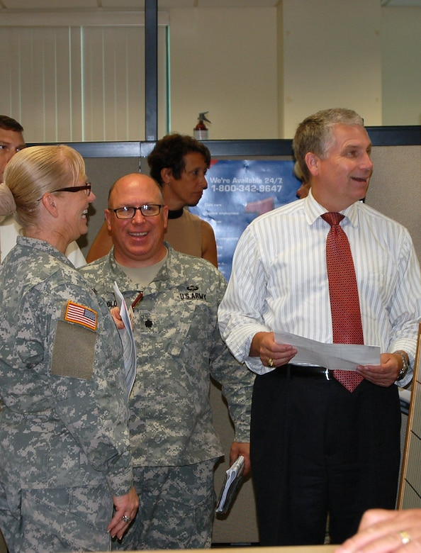"Mr. Stephen D. Austin, Assistant Chief of Army Reserve, meets with senior leaders and staff members of Army Reserve Medical Command in Pinellas Park, Florida at the C.W. ""Bill"" Young Armed Forces Reserve Center on Friday, Sept. 16. The ACAR also met with Soldiers and leaders from Army Reserve Medical Management Center co-located with ARMEDCOM at the C.W. Bill Young Armed Forces Reserve Center. ARMEDCOM enhances readiness, medical support, and medical training and is the largest medical footprint of the Army Reserve with more than 100 different medical units located throughout the United States."