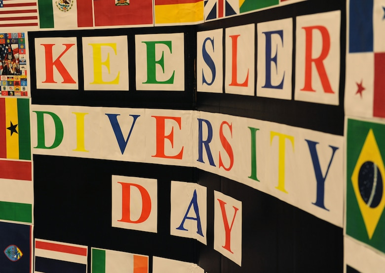 A poster board sits on display during Diversity Day at the Bay Breeze Event Center Sept. 13, 2016, on Keesler Air Force Base, Miss. The cultural celebration included food sampling and information booths about countries around the world and other special emphasis groups. (U.S. Air Force photo by Kemberly Groue/Released)