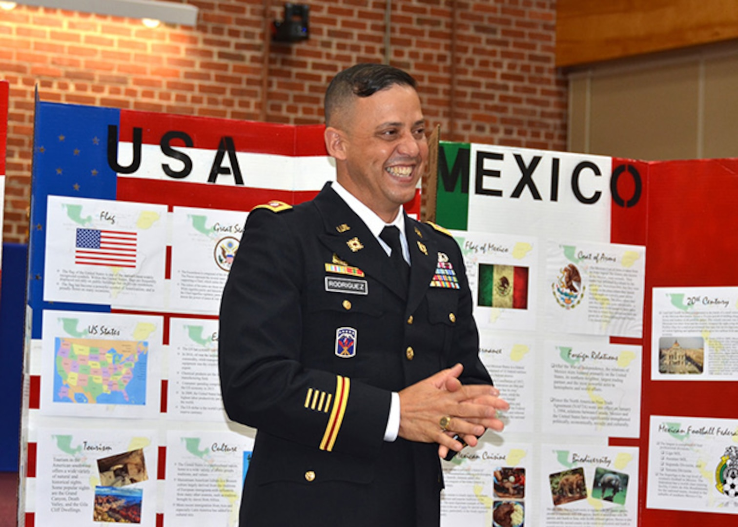 The Hispanic Heritage Month kickoff was held for Defense Logistics Agency employees on Defense Supply Center Richmond, Virginia, Sept. 16, 2016. Guest speaker Army Lt. Col. Luis Rodriguez  Exercise Support Division chief, Logistics Exercise and Simulations Directorate, U.S. Army Training and Doctrine Command from Fort Lee, Virginia speaks about the contributions Hispanics make to our nation and his personal perspectives as a Hispanic American.