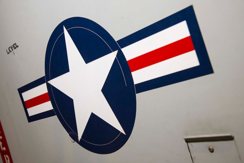 DAYTON, Ohio -- North American Rockwell OV-10A star and bar insignia in the Southeast Asia War Gallery at the National Museum of the United States Air Force. (U.S. Air Force photo by Ken LaRock)