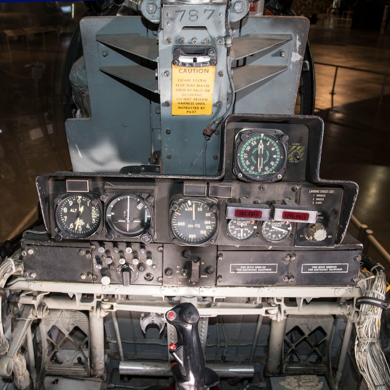 DAYTON, Ohio -- North American Rockwell OV-10A rear cockpit in the Southeast Asia War Gallery at the National Museum of the United States Air Force. (U.S. Air Force photo by Ken LaRock)