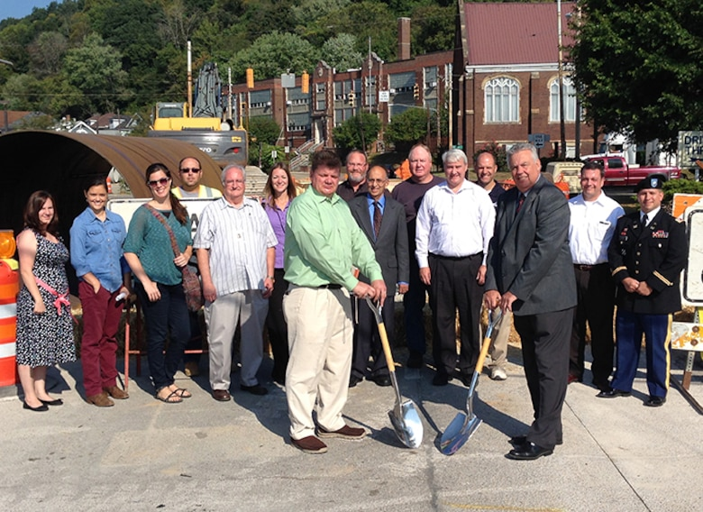 Ceremonial groundbreaking for the Phase 3 project to replace an outdated Combined Sewer Overflow system with a modern system that separates sanitary sewer wastewater from storm water.  This minimizes inflow/infiltration during large rain events, improves local water quality, and reduces maintenance costs associated with cleaning/repairing the old system.  Funded through the Section 594 Program, total project costs are $1.33M ($1M Federal/$333K non-Federal)
