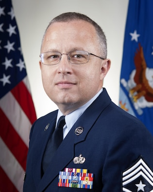 Chief Master Wes Marion took over as the 434th Air Refueling Wing Command Chief Sept. 1. As the 434th ARW command chief, he advises the commander on matters influencing the health, morale, welfare and effective utilization of more than 1400 personnel within the wing and serves as the commander's representative at numerous functions. (U.S. Air Force photo/Tech. Sgt. Benjamin Mota)