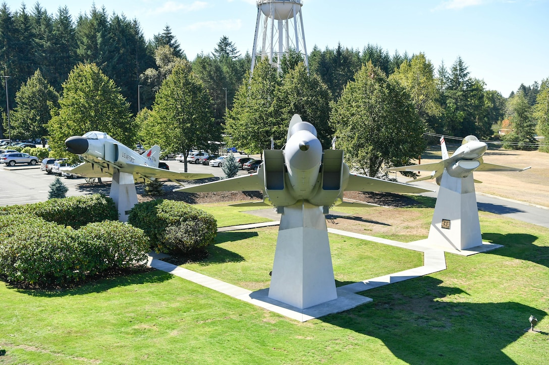 The Western Air Defense Sector adds a McDonald Douglas F-15A Eagle static display to the WADS Air Park.  The F-15 joins the General Dynamics F-16 Fighting Falcon, McDonald Douglas F-4 Phantom II, and FPS-26A Height Finder Radar. 