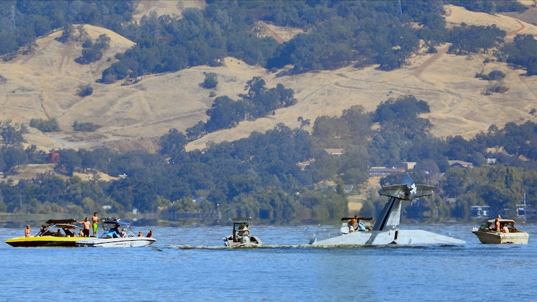 Two men were injured in a seaplane crash on Saturday, September 17, 2016, in Lakeport, Calif., during the annual Clear Lake Seaplane Splash In. Photo courtesy of Ron Keas.