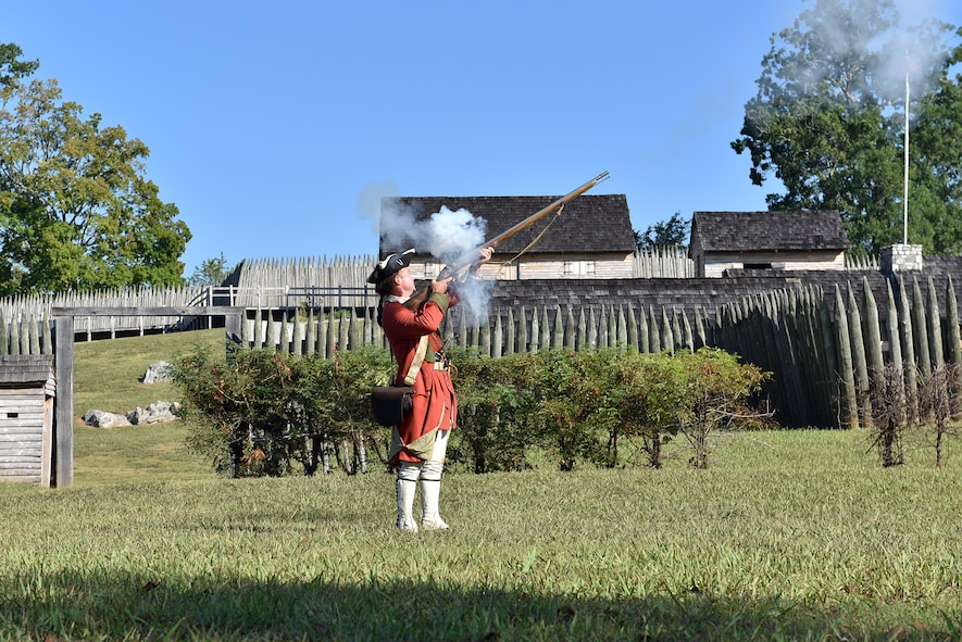 Noncommissioned officers from five nations and the United States tour Fort Loudoun State Historic Area Sept. 20, 2016, in Vonore, Tenn., as part of a cultural day. The area is a Tennessee River peninsula that surrounds Fort Loudoun. The fort once housed British soldiers as a western outpost from 1756-1760 and served relations with the Cherokee. The Air National Guard's I.G. Brown Training and Education Center is hosting the NCOs this week for the International Noncommissioned Officer Development Seminar. (U.S. Air National Guard photo by Master Sgt. Mike R. Smith)