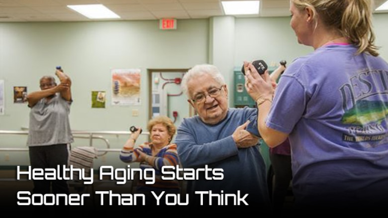 While it may not seem like something young Airmen should be concerned about, staying healthy in old age starts with being healthy at a younger age. (AFMS Photo)