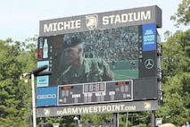 1st Infantry Division Band was invited to perform with the West Point Band at a home football game Sept. 10, 2016 against Rice Universtity, where the 1ID was honored at the game.