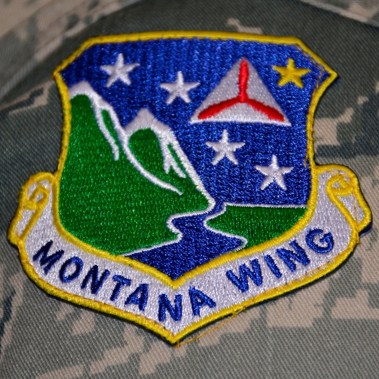 The patch worn by members of the Civil Air Patrol Montana Wing. Cadets assigned to the Malmstrom Air Force Base Composite Squadron toured the 120th Airlift Wing and took a C-130 Hercules orientation flight Sept. 13, 2016. (U.S. Air National Guard photo by Senior Master Sgt. Eric Peterson)