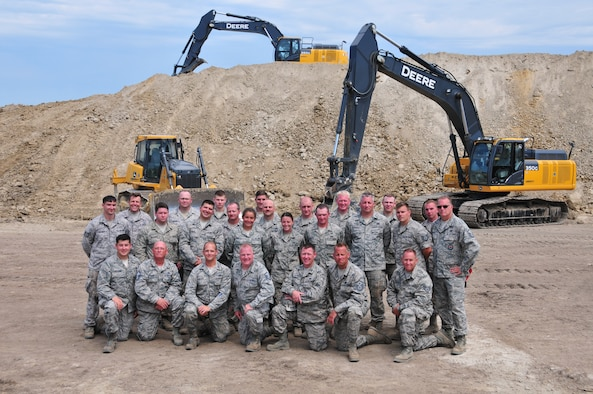 Pennsylvania Air National Guardsmen with the 171st Air Refueling Wing Civil Engineer Squadron travelled to Lincoln Nebraska to continue construction work on the Lincoln Police Department's Law Enforcement Training Center. The project was part of the Innovative Readiness Training program, which provides military personnel deployment readiness training while addressing public and civil-society needs. (Air National Guard photo by Staff Sgt. Allyson L. Manners)
