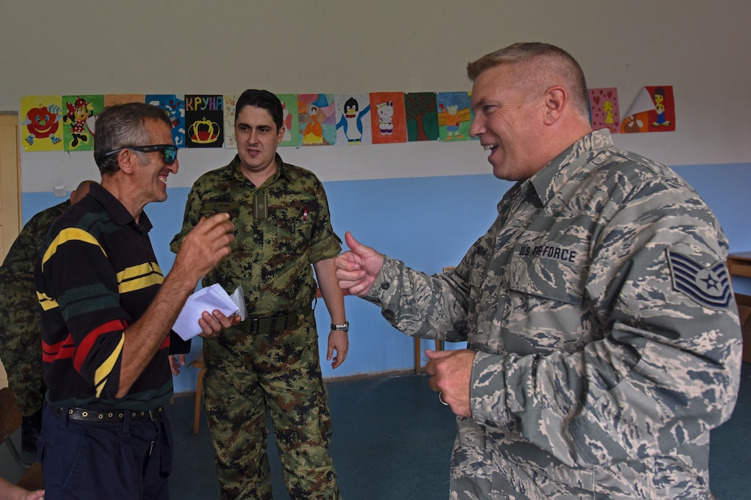 Service members from the Ohio Army National Guard Medical Detachment and the Ohio Air National Guard Medical Group participated with members of the Serbian Armed Forces in a Combined Medical Engagement from Sept. 4, 2016 to Sept. 17, 2016 in various locations throughout southeast Serbia. The purpose of the engagement was to provide humanitarian assistance by the combined medical teams to the Serbian civilians in the regions, build a working relationship between the Serbian Armed Forces' and Ohio National Guard's medical teams and lay the groundwork for a future relationship with the Angolan Armed Forces. (U.S. Air National Guard photo by Senior Airman Wendy Kuhn/Released)