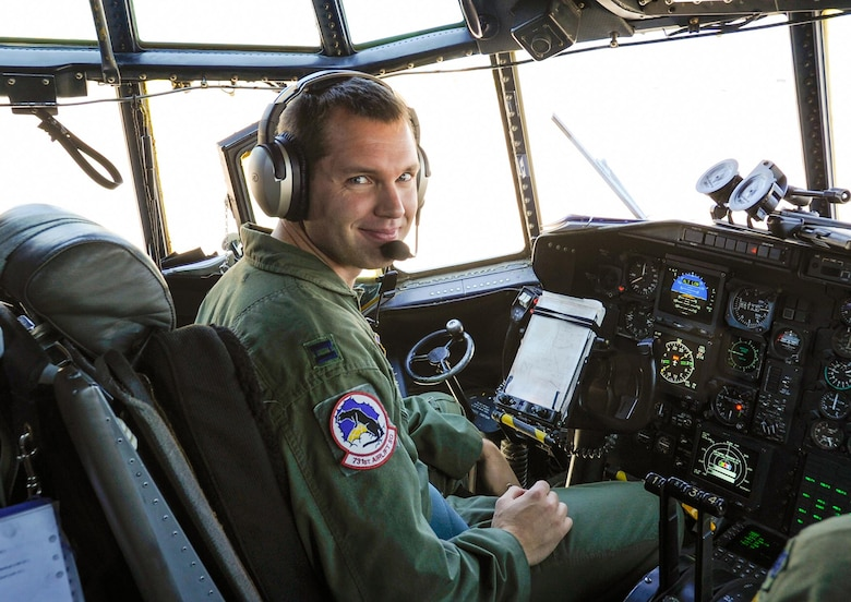 Capt. John Lockheed of the 302nd Airlift Wing at Peterson Air Force Base, Colorado, is the fourth generation of pilots in his family. (Maj. Jolene Bottor-Ortiona)