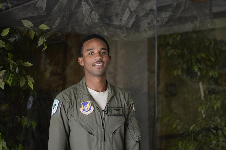 U.S. Air Force Staff Sgt. Marcus Taylor, 33rd Rescue Squadron special mission's aviator, was part of the team to rescue a III Marine Expeditionary Force pilot after he ejected from his AV-8B Harrier Sept. 22, 2016, off the coast of Okinawa, Japan. The pilot ejected safely from his aircraft and was rescued successfully by the 31st and 33rd Rescue Squadrons. (U.S. Air Force photo by Senior Airman Stephen G. Eigel)
