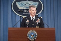 Army Gen. John. W. Nicholson, commander of the Resolute Support mission and U.S. Forces Afghanistan, provides an update on operations to reporters at the Pentagon, Sept. 23, 2016. DoD photo by Navy Petty Officer 1st Class Tim D. Godbee