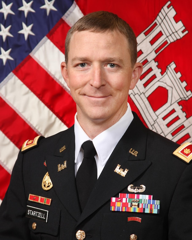 Maj. James T. Startzell, Omaha District Deputy Commander and Chief of Staff