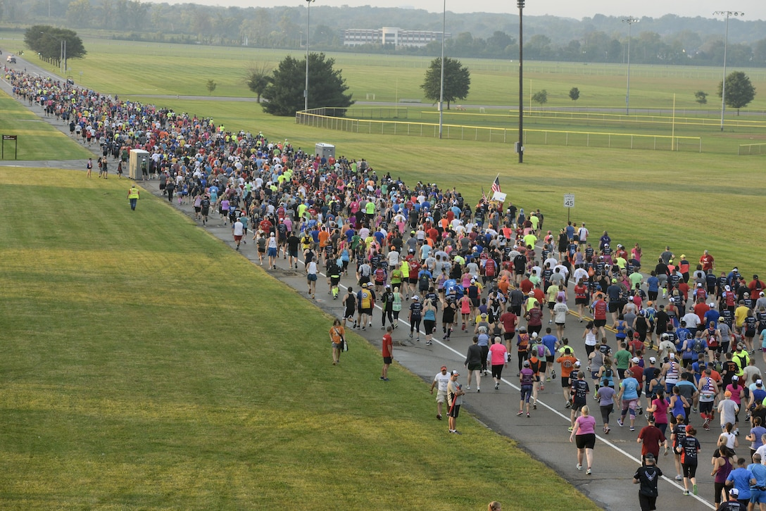 Scenes from the 2016 Air Force Marathon weekend at Wright-Patterson Air Force Base, Sept. 15-17. More than 15,000 runners, walkers and spectators from all 50 states and 17 foreign countries gathered to participate in the races 20th year. (U.S. Air Force photo / Wesley Farnsworth)