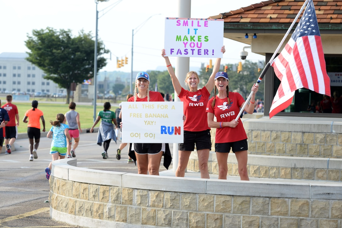 Scenes from the 2016 Air Force Marathon weekend at Wright-Patterson Air Force Base, Sept. 15-17. More than 15,000 runners, walkers and spectators from all 50 states and 17 foreign countries gathered to participate in the races 20th year. (U.S. Air Force photo / Michelle Gigante)