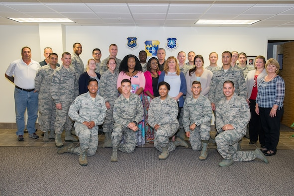 Twenty-five service members, civilians and key spouses graduated from the 45th Space Wing Resiliency Training Assistant Course Sept. 22, 2016, at Patrick Air Force Base, Fla. The 3-day course is taught by Master Resiliency Trainers, who provide expertise, guidance and structure to the Resiliency Program. (U.S. Air Force photo/Benjamin Thacker)