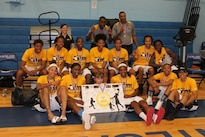 The All-Army Women's Basketball Team poses for a photo after winning the Armed Forces Championship game against the Navy in San Antonio, Texas. Members of the team went on to compete in the World Military Basketball Championship as Team USA. Courtesy photo
