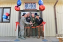 Leadership from the 39th Air Base Wing and USO Incirlik, cut the ribbon in front of USO Incirlik during its grand opening ceremony Sept. 23, 2016, at Incirlik Air Base, Turkey. More than 100 Airmen attended the grand opening ceremony. (U.S. Air Force photo by Senior Airman John Nieves Camacho)