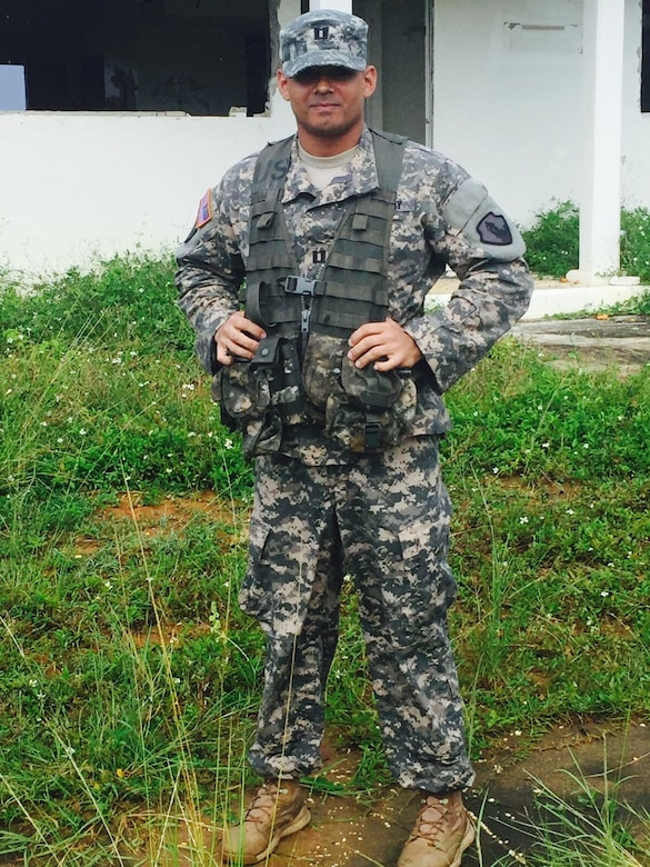 Capt. Peter Ray Lopez, a native from Humacao, PR, dreamed of being in the military since he was a child. In December of 2007, his dream came true, and he joined the U.S. Army Reserve. Fort Buchanan, Puerto Rico.
