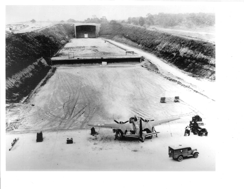 The Aerospace Vehicle Survivability Facility Main Complex during the WWII era. (U.S. Air Force photo)