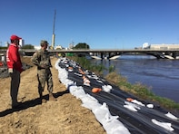 Rock Island District staff on the ground assisting the City of Cedar Rapids, Iowa in the flood fight.
