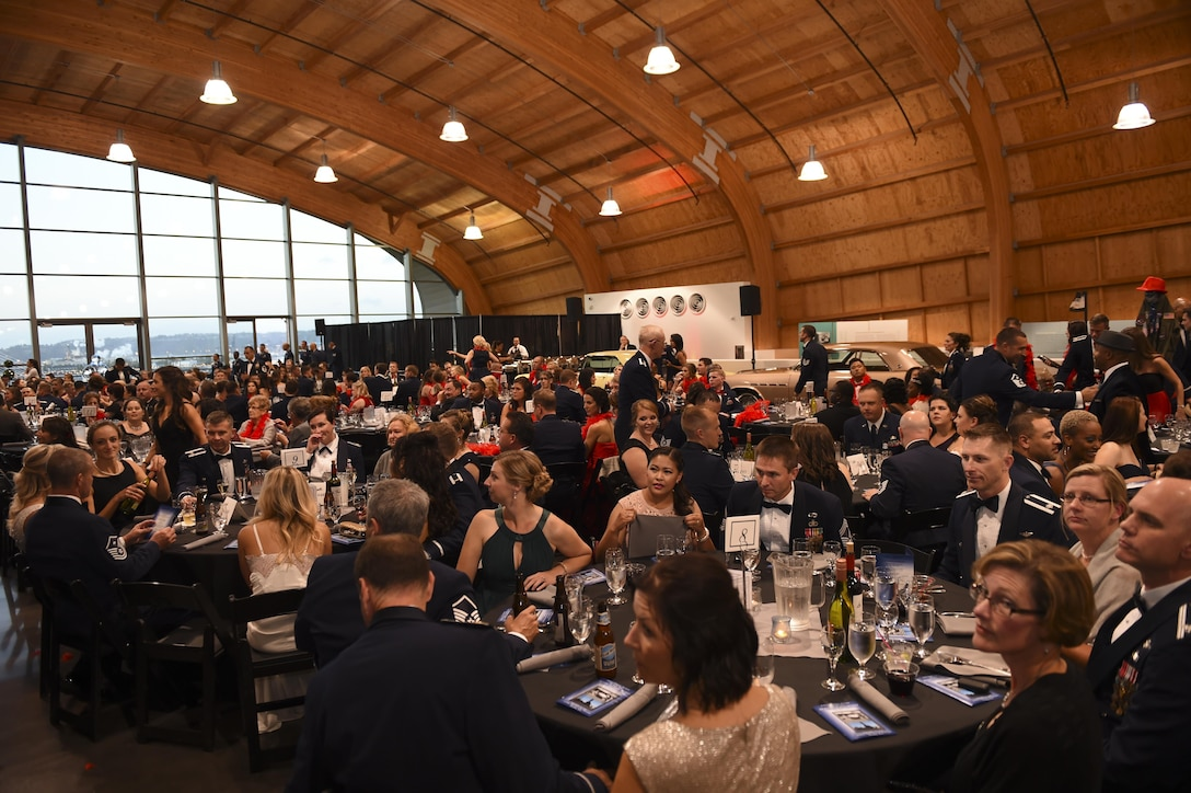 McChord Air Force Ball guests sit inside the Lemay America's Car Museum in Tacoma, Wash., Sept. 23, 2016. Approximately 500 attendees recognized the history, celebrating the birthday of the United States Air Force in a time honored tradition, the Air Force Ball. (U.S. Air Force photo/Staff Sgt. Naomi Shipley)