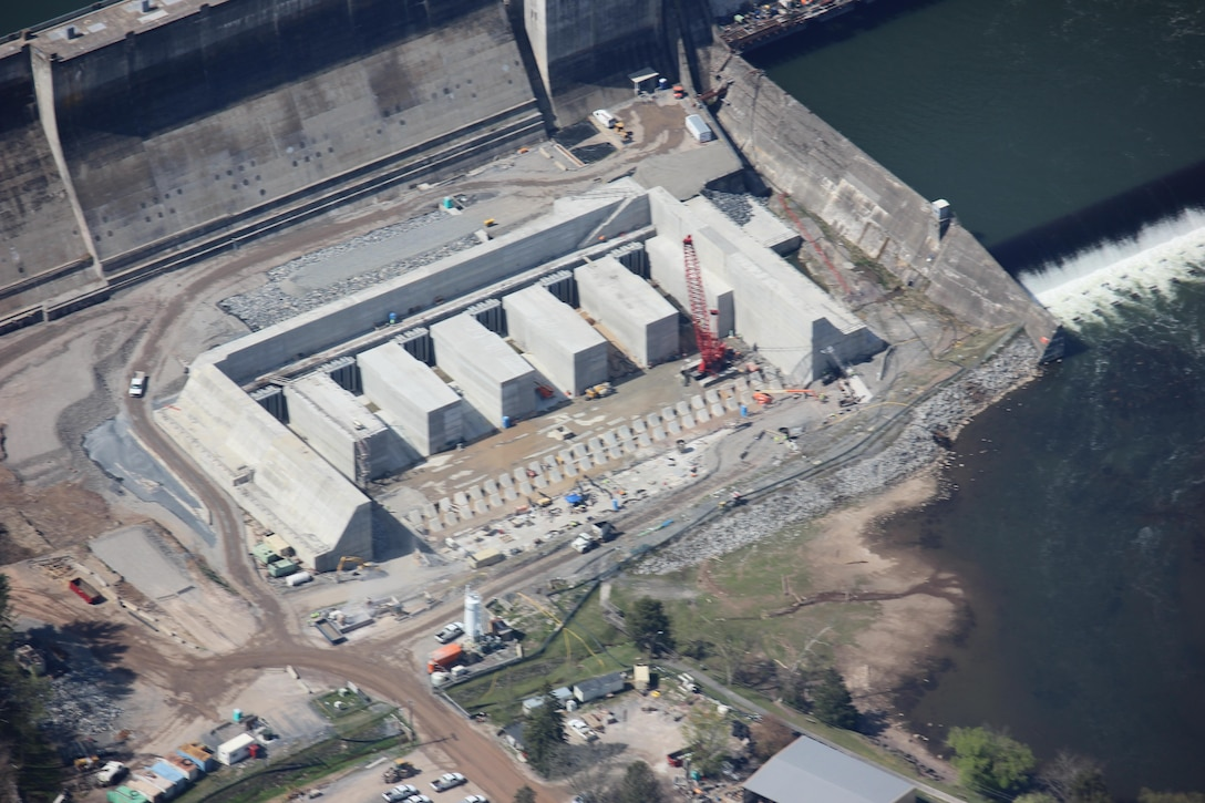 A ribbon cutting ceremony to celebrate the completion of Phase 3 of the U.S. Army Corps of Engineers Bluestone Dam Safety Assurance Project will be held Friday, Oct. 7, 2016 at 10:30 a.m. at Bellepointe Park in Hinton, W.Va.