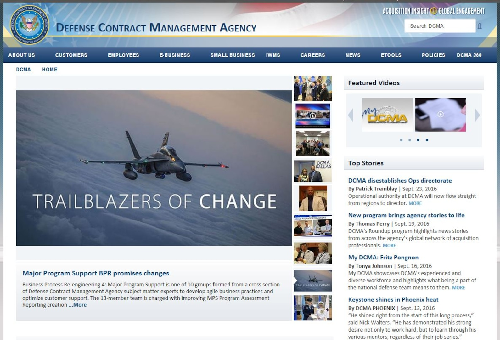 The Defense Contract Management Agency has a new public website, designed around a new content management system that allows for faster updating while also bringing the look and feel more closely in line with other Department of Defense sites.