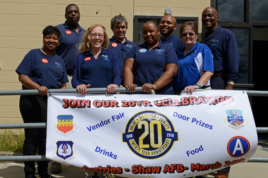 Base Supply Center employees celebrate 20 years of providing retail service at Shaw Air Force Base, S.C.