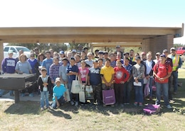 SANTA ROSA LAKE, N.M., -- Along with 16 adult volunteers, 34 Santa Rosa Middle School students participated in the National Public Lands Day event at the lake, Sept. 24, 2016.