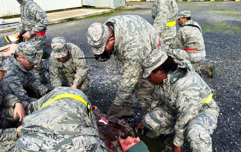 Operation Blue Thunder, Medical Readiness Indoctrination Course (MRIC) is a course where students are forced to react to a mass casualty scenario in a simulated deployed environment.