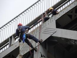 Bourne Bridge inspection work.