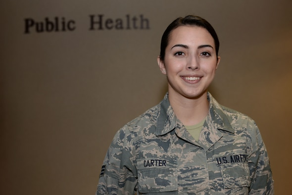 U.S. Air Force Senior Airman Autumn Carter, 19th Aerospace Medicine Squadron public health technician, was nominated as Combat Airlifter of the Week April 3, 2017, at Little Rock Air Force Base, Ark. Carter shows excellence through her efforts to ensure the individual readiness and occupational needs of 3,600 Team Little Rock personnel.
