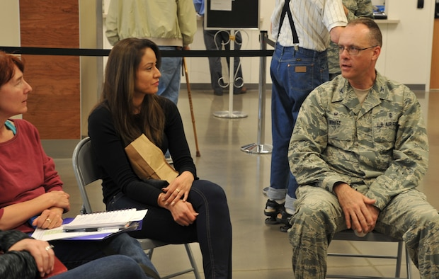"The 377th Medical Group held the first ever ""Coffee with Commanders"" at the Kirtland Base Exchange on March 23. 