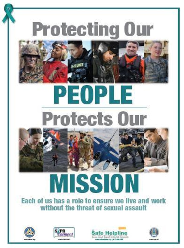 """April is recognized as Sexual Assault Awareness and Prevention Month (SAAPM) across the country by both civilian and military communities. The month is an opportunity to highlight robust efforts the 172d Airlift Wing takes to care for victims and innovative ways we are working to infuse prevention practices into our daily mission.  """"Protecting our People Protects our Mission"""""""
