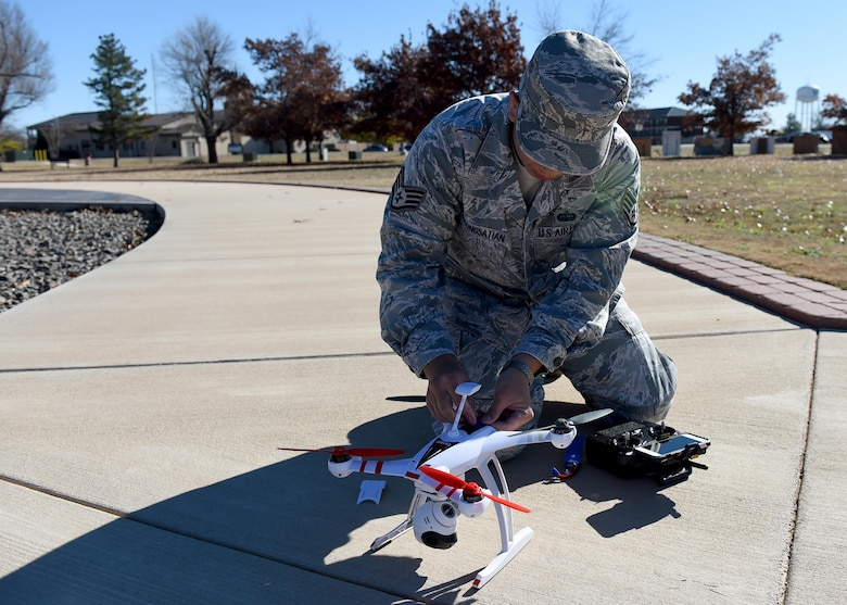 Airman with a drone