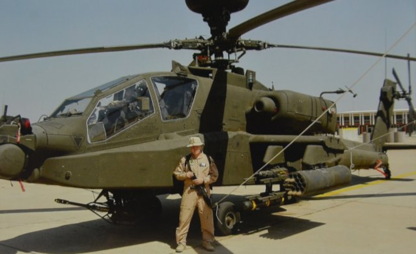 "Chief Warrant Officer 2 Lawrence ""Shane"" Colton, an attack helicopter pilot assigned to the Army's 1st Battalion, 227th Aviation Regiment, 1st Cavalry Division at Fort Hood, Texas, was shot down in Baghdad, Iraq, when his helicopter responded to a fuel convoy under attack April 11, 2004. His wife, Inge Colton, and other spouse survivors will be honored on Gold Star Spouse Day April 5. (Photo Credit: Courtesy Photo)"