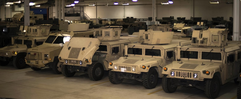 Security Force's vehicles are parked at the 91st Security Support Squadron's Vehicle Building on Minot Air Force Base, N.D., Mar. 28, 2017. The 91 SSPTS supports the missions of both the 91st Missile Wing and 5th Bomb Wing by tracking their vehicles usage and maintenance. (U.S. Air Force photo/Airman 1st Class Austin M. Thomas)