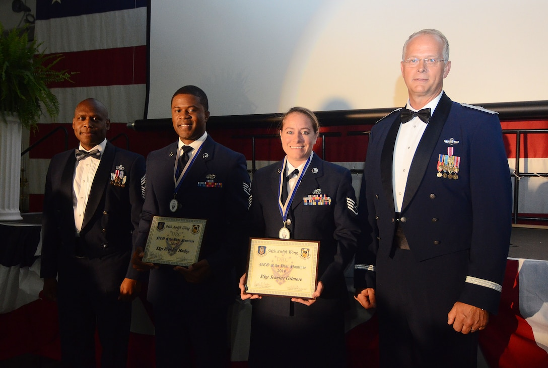 The 94th Airlift Wing hosted its annual Dobbins Recognition Ceremony on April 1, 2017 at Dobbins Air Reserve Base, Georgia. Military members, civilians, family and friends attended to recognize honorees for distinguished service. (U.S. Air Force photos by Don Peek)