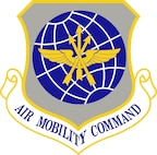 The official Air Mobility Command Shield.  In accordance with Chapter 3 of Air Force Instruction 84-105, commercial reproduction of this emblem is NOT permitted without the permission of the proponent organizational/unit commander.
