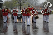On April 6, 2017, the U.S. Marine Band participated in the funeral for Col. John Glenn, legendary astronaut and former U.S. Senator, at Arlington National Cemetery. (U.S. Marine Corps photo by Master Sgt. Amanda Simmons/released)