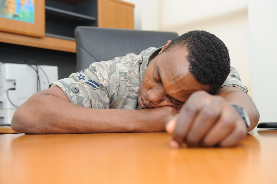 According to the Air Force, many mishaps have cited fatigue as a contributing factor. Getting a better night's sleep is not only important to be alert during the work day, but also for avoiding health risks. (U.S. Air Force photo/Senior Airman Kristoffer Kaubisch)