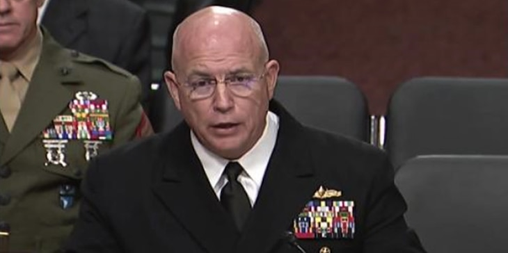 Screenshot of Adm. Kurt W. Tidd, commander, U.S. Southern Command, providing testimony to the Senate Armed Services Committee (DVIDS screenshot)