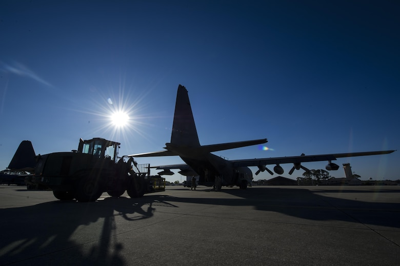 Air transportation specialists with the 1st Special Operations Logistics Readiness Squadron load pallets onto an MC-130 Combat Talon II at Hurlburt Field, Fla., April 7, 2017. The Combat Talon II provides infiltration, exfiltration, and resupply of special operations forces and equipment in hostile or denied territory. (U.S. Air Force photo by Airman 1st Class Joseph Pick)