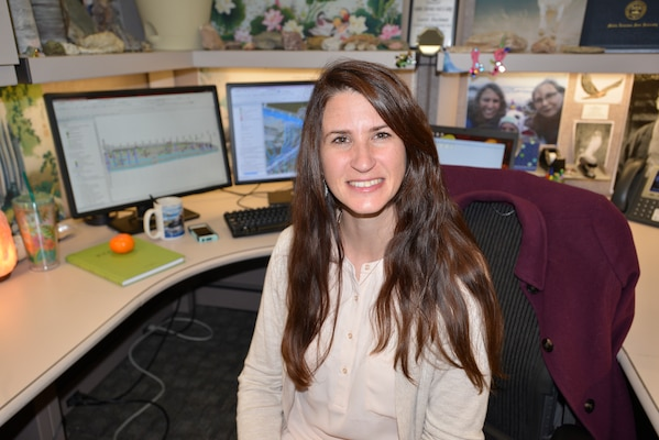 Laurel Blackman, U.S. Army Corps of Engineers Nashville District Engineering and Construction Division geologist, is the district's employee of the month for February 2017.  (USACE photo by Mark Rankin)