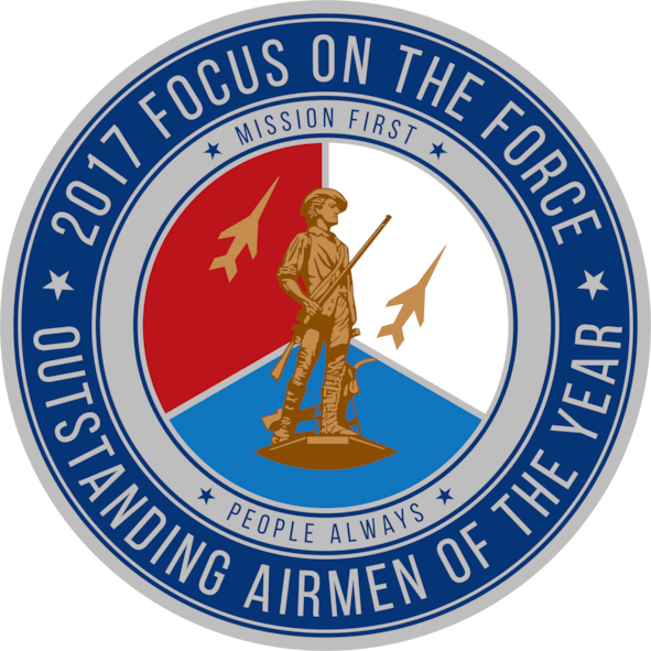Official seal for the Air National Guard's 2017 Focus on the Force Week, a week-long event celebrating the contributions and excellence of the ANG enlisted corps. (Air National Guard illustration by Tech. Sgt. Jessica Wolter)