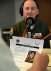 Col.Thomas K. Smith, Jr., 433rd Airlift Wing commander, prepares to answer a question on the San Antonio's Movers and Shakers radio program April 8, 2017 at the 930AM The Answer studios. The show is hosted by John Thurman, Heart of Texas Realty and Bjorn Dybdahl, Bjorns Audio Video. The program celebrates the education, business, civic, and public leaders who keep the entrepreneurial spirit alive in San Antonio. (U.S. Air Force photo by Benjamin Faske)